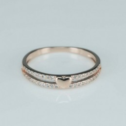 Ring  heart  5mm.  rose...