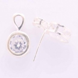 Earring Round with Circonia