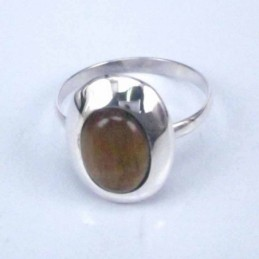 Ring Oval Tiger Eye 8x10mm.