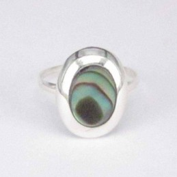 Ring Oval Abalon 8x10mm.