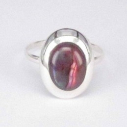 Ring Oval Rose Abalon 8x10mm.