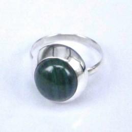 Ring Round Malachite 10mm.