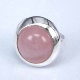 Ring Round Stone 14mm. Rose...