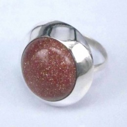 Ring Round Stone 14mm. Sun...