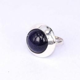 Ring Round Stone 14mm. Blue...