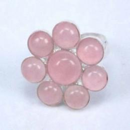 Ring Flower 8 Stones Rose...