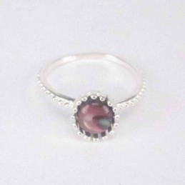Ring Crown Stone 8mm. Rose...