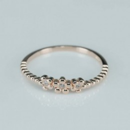 Ring  flower  4mm.  rose...