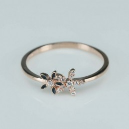 Ring  flower  7mm.  rose...