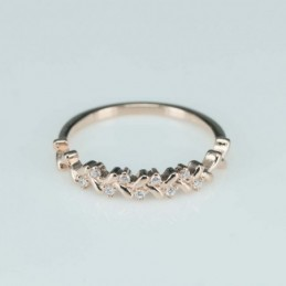 Ring  leaf  4mm.  rose...