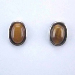 Ea Oval stone 6x8mm. Tiger Eye