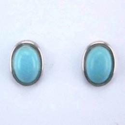 Ea Oval stone 6x8mm. Turquoise