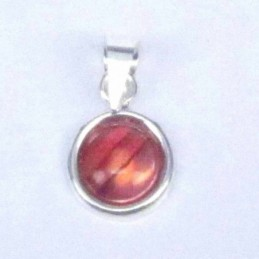 Pend. Round stone 6mm. Rose...