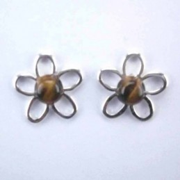 Ea flower stone 6mm. Tiger Eye