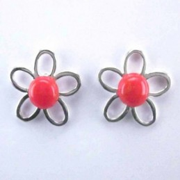 Ea flower stone 6mm. Coral