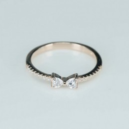 Ring  bow   3mm.  rose...