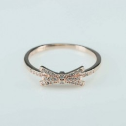 Ring  bow   6mm.  rose...