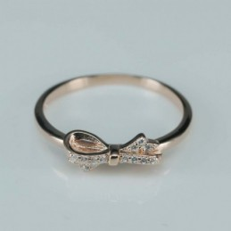 Ring  bow   5mm.  rose...
