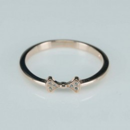 Ring  bow  4mm.  rose...
