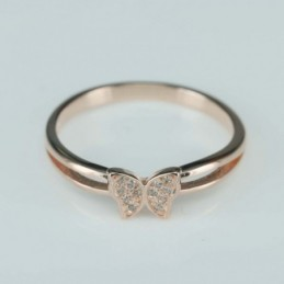 Ring  butterfly  6mm.  rose...