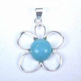 Pendant Flower with Stone...