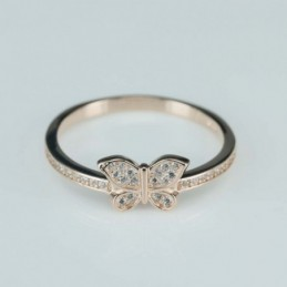 Ring  butterfly  7mm.  rose...
