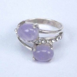 Ring 2 Stone 6x8mm.+crystal...
