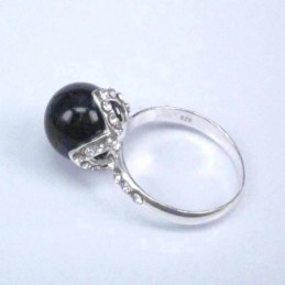 Ring Ball 10mm.+Crystal Onix