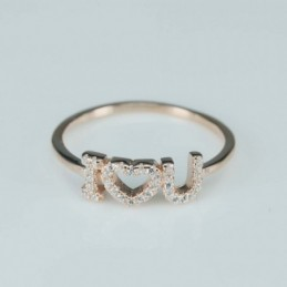 Ring   I O U   6mm.  rose...