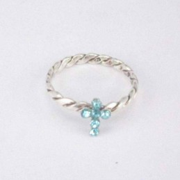 Ring with cross crystal...