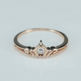 Ring  crown   8mm.  rose...