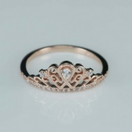 Ring  crown  9mm.  rose...