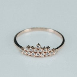 Ring  crown  5mm.  rose...