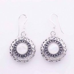 Earrring Round 17mm. With...