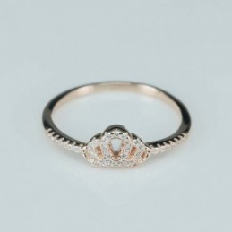 Ring  crown   6mm.  rose...