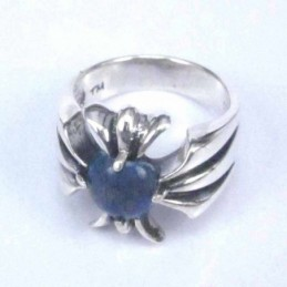 Ring Cross with 6mm. Lapis...