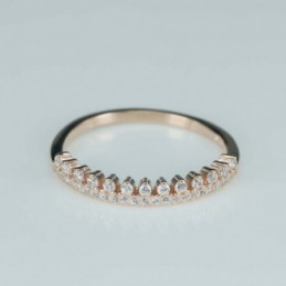Ring  crown  3mm.  rose...