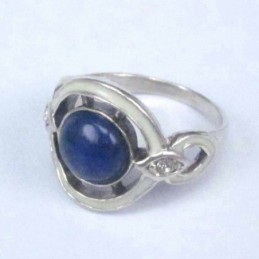 Ring Round with 8mm. Lapis...