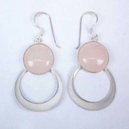Earring Round Coral