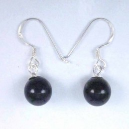 Earring Ball 8mm. Hook Onix...