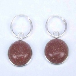 Earring Oval Coral