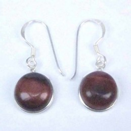 Earring Round 10mm. Red...