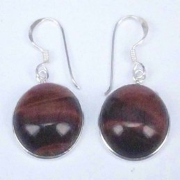 Earring Round 14mm. Red...