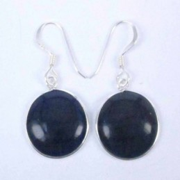 Earring Round Cat Eye Stone
