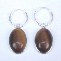 Earring Oval 10x14mm. Tiger...