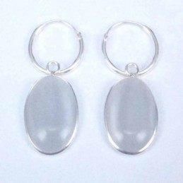 Earring Oval 10x14mm. Cat...