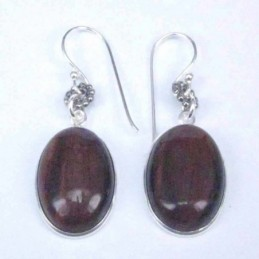 Earring Oval 12x16mm.Red...