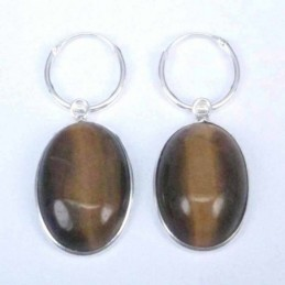 Earring Oval 13x18mm. Tiger...