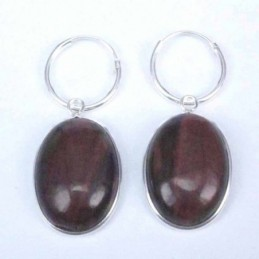 Earring Oval 13x18mm. Red...