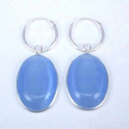 Earring Oval 13x18mm. Cat...